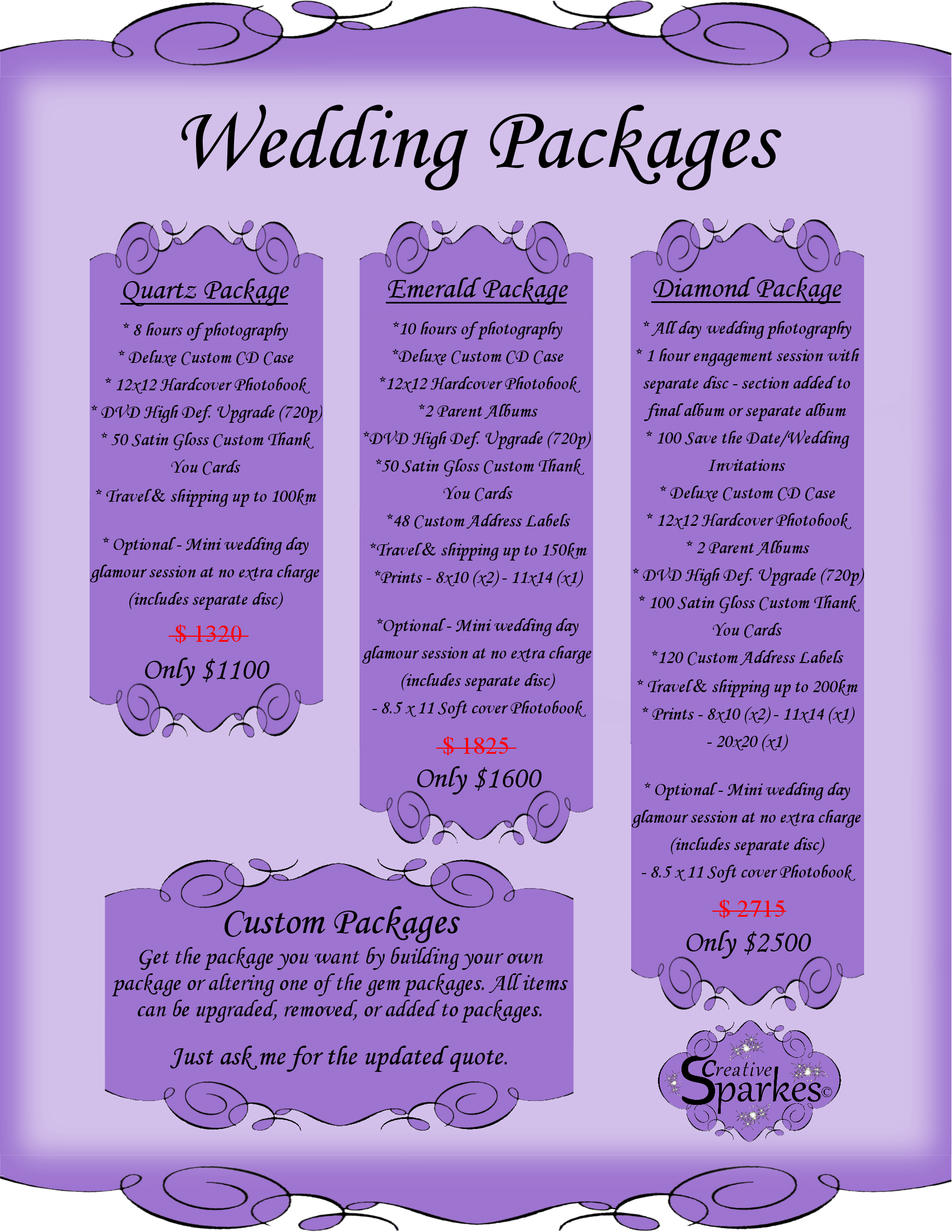 Affordable Wedding Photography Packages  Bay of Quinte