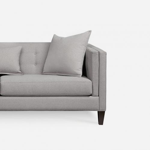 Macy's Braylei Track Arm Sofa in Heather Gray