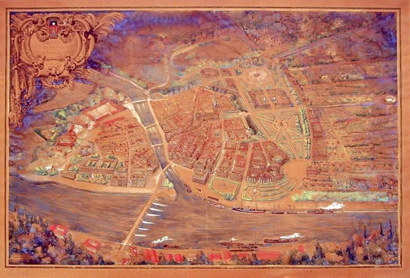 Ancien plan de Bayonne
