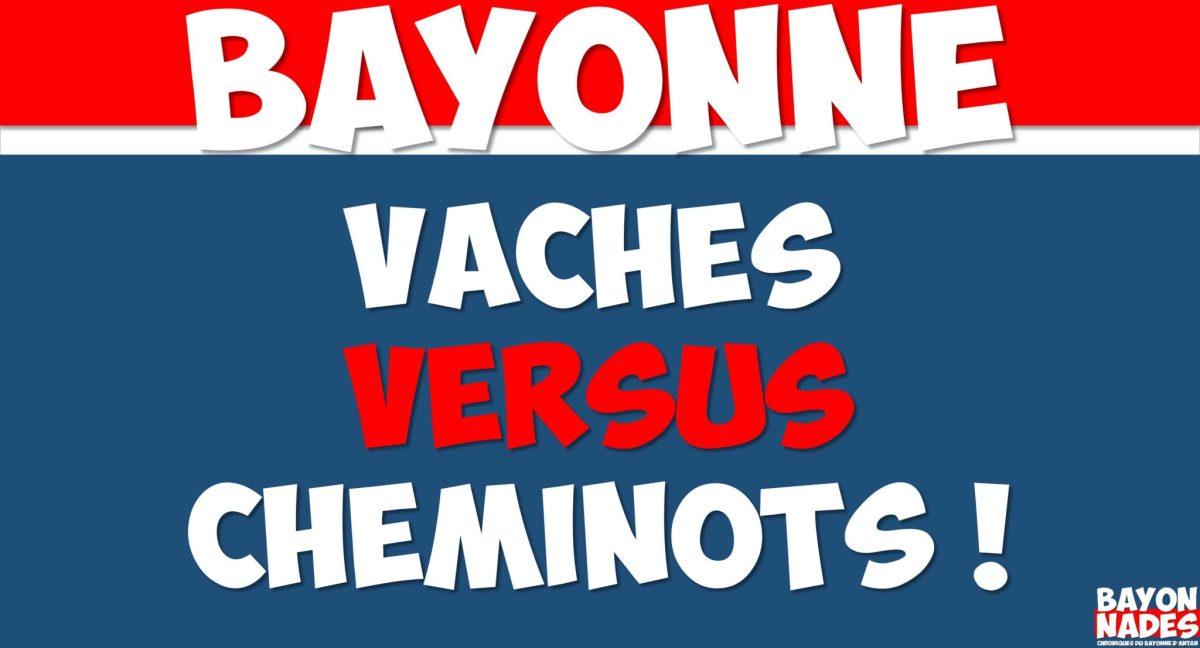 Bayonne Vaches versus Cheminots !