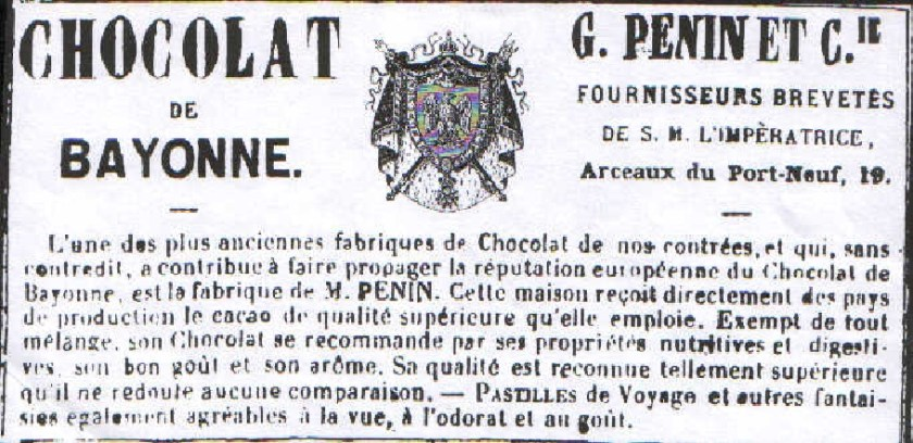 Brevet chocolaterie Penin
