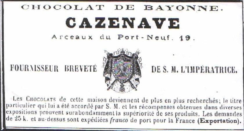 Brevet chocolaterie Cazenave