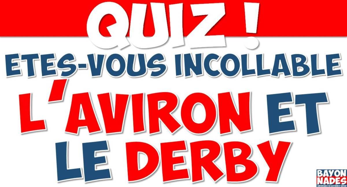 Quiz : Êtes-vous incollable sur l'Aviron et le derby ?