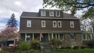 Private residence in Bristol RI before a new roof installation.