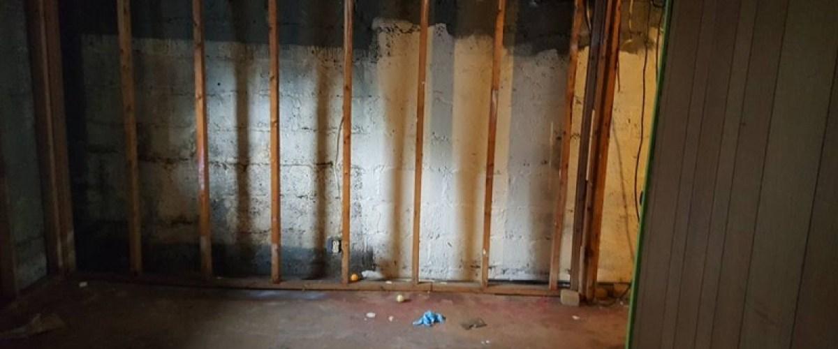 Basement waterproofing project