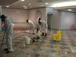 Cleaning mold from floors