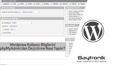 Photo of WordPress Kullanıcı Bilgilerini phpMyAdmin'den Değiştirme Nasıl Yapılır?
