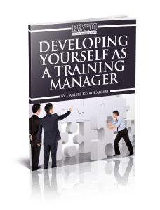 Developing Yourself as a Training Manager eBook