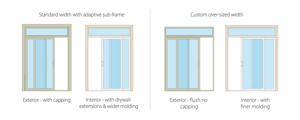 piecing together a replacement patio door