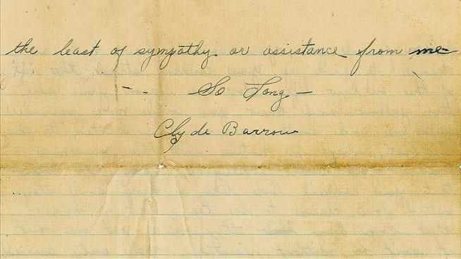 Interestin new letter from Bonnie and Clyde era makes way onto auction block