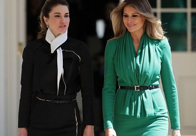 Queen Rania met Melania Trump today
