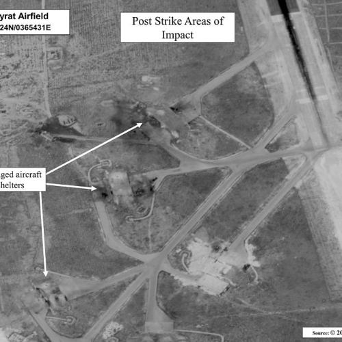 VIDEO: Drone footage shows severe damage done to Syrian airbase by Trump