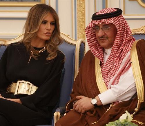 Melania Trump in Saudi Arabia, but, no headscarf present