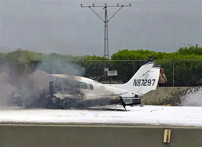 A plane crashed into a California freeway, and, nobody noticed