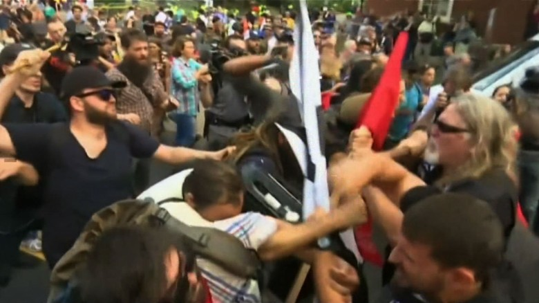 WATCH: The moment the Charlottesville protests turned viciously violent