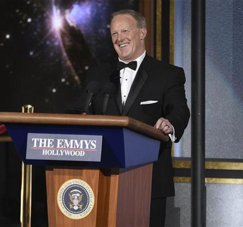 Sean Spicer 's Emmy appearance catching flack