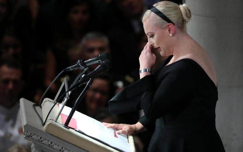 Donald Trump responds to Meghan McCain 's funeral swipe