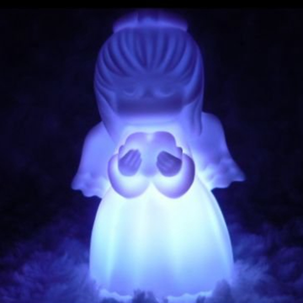 color for living rooms room pillows target buy 7 changing led cute angel night light decoration ...
