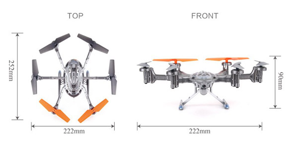 Köp Walkera QR Y100 2.4Ghz 6 Axis FPV Hexacopter WiFi
