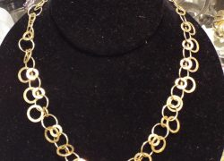 14kt Yellow Gold Circles Chain Necklace