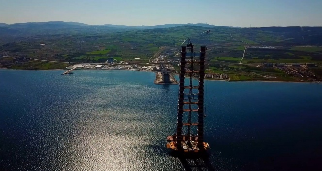 Canakkale Bosphorus Bridge foundation height reaches 250 meters, construction continues 1