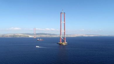 Works continues on the most important parts of Canakkale Dardanelles Bridge 27