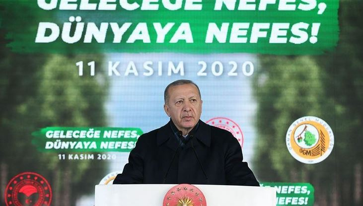 Turkey targets 7B saplings to be planted by 2023: President 1