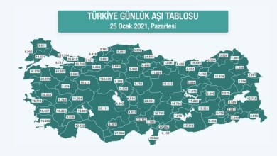 Turkey's vaccine map is now available 29