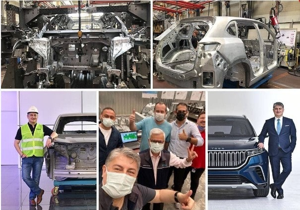 The first body assembly took place in Turkey's domestic car TOGG 1
