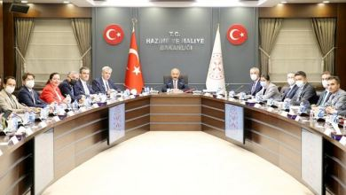 Turkey's finance minister meets with German business leaders 7