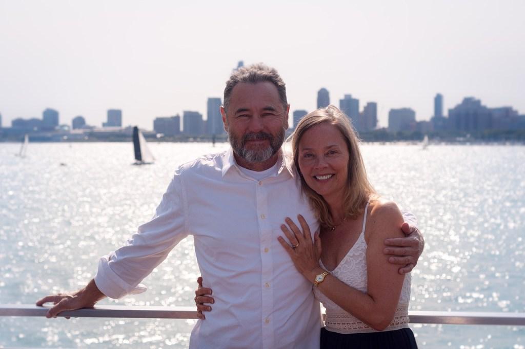 man and woman enjoying