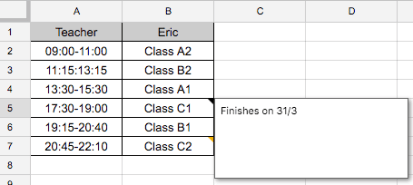 Google Sheets (15) – What's the difference between notes
