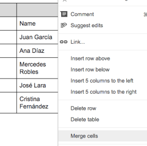 Google Docs (4) – Getting to grips with tables | Learning G Suite