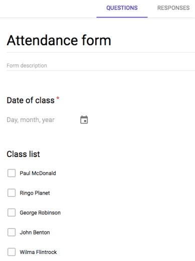 Forms & Sheets – Attendance System | Learning G Suite & Apps Script