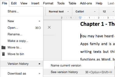 Google Docs 17 Version History All Is Not Lost Learning G