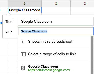 Google Sheets (20) – Adding links | Learning G Suite & Apps
