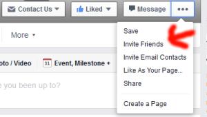 facebook invites