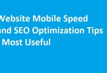 Website Mobile Speed and SEO Optimization Tips - Most Useful