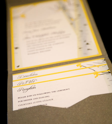 Birch Tree Bark Wedding Invitations