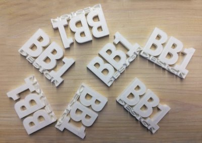portachiavi BB1 Laboratorio di Design - stampa 3d