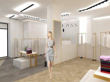 Progettazione negozio di abbigliamento Class - render 2