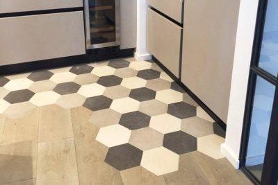 particolare pavimento - mattonelle ottagonali