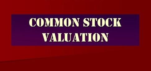 Common Stock Valuation