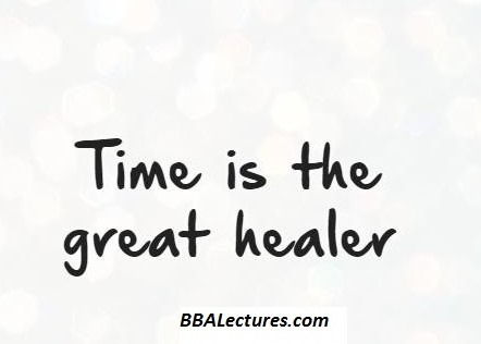Time is a Great Healer