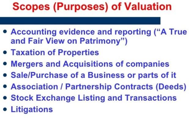 Valuation Purposes