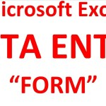 How to create Data Entry Form in Microsoft Excel 2010