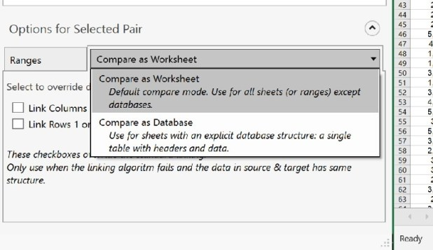 How to compare two excel files without writing a script