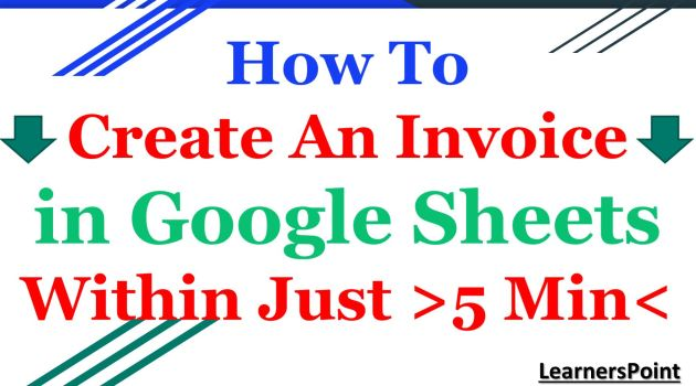 How To Create An Invoice In Google Sheets