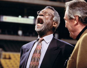 Bill Russell's reaction to being omitted from LeBron's Mount Rushmore Copyright © Lipofsky Basketballphoto.com