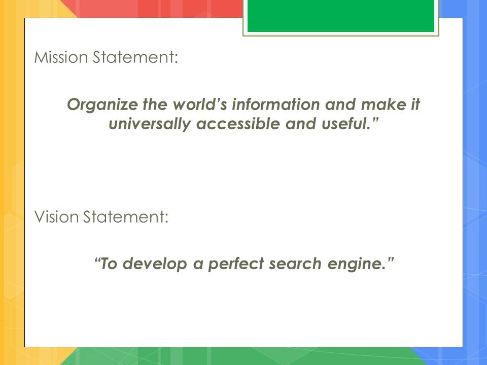 google vision statement